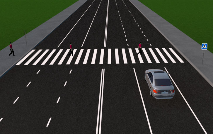 Обустроенный пешеходный переход