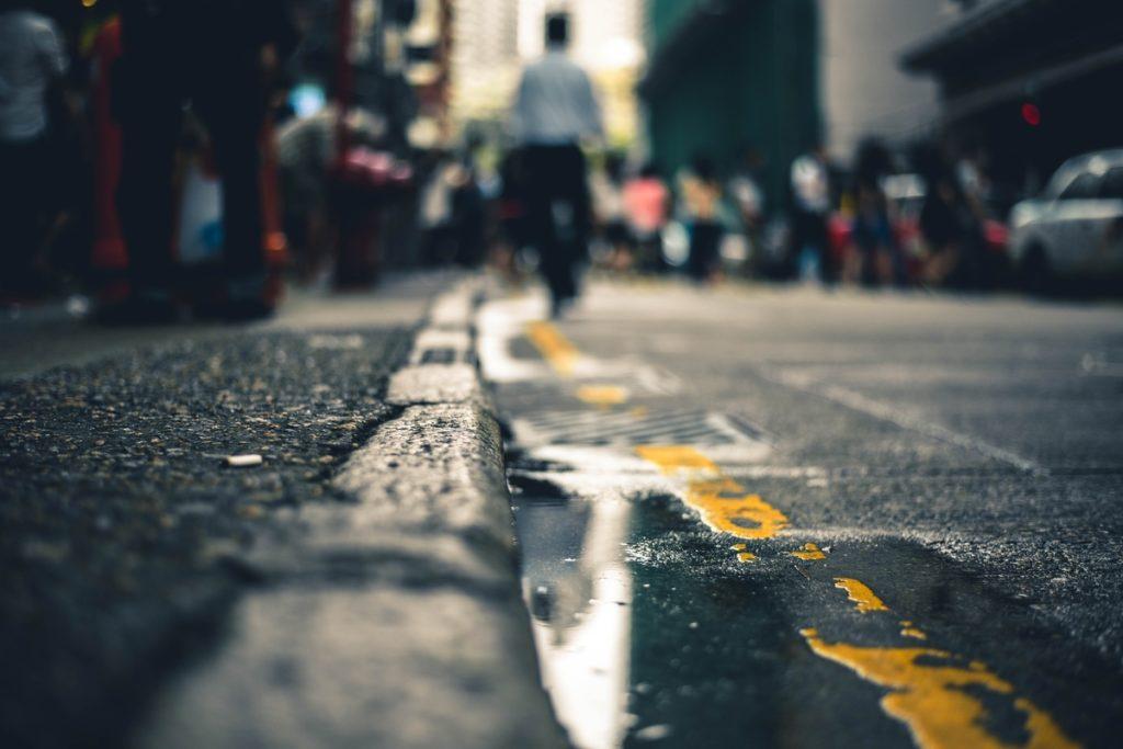 Тротуар для пешеходов