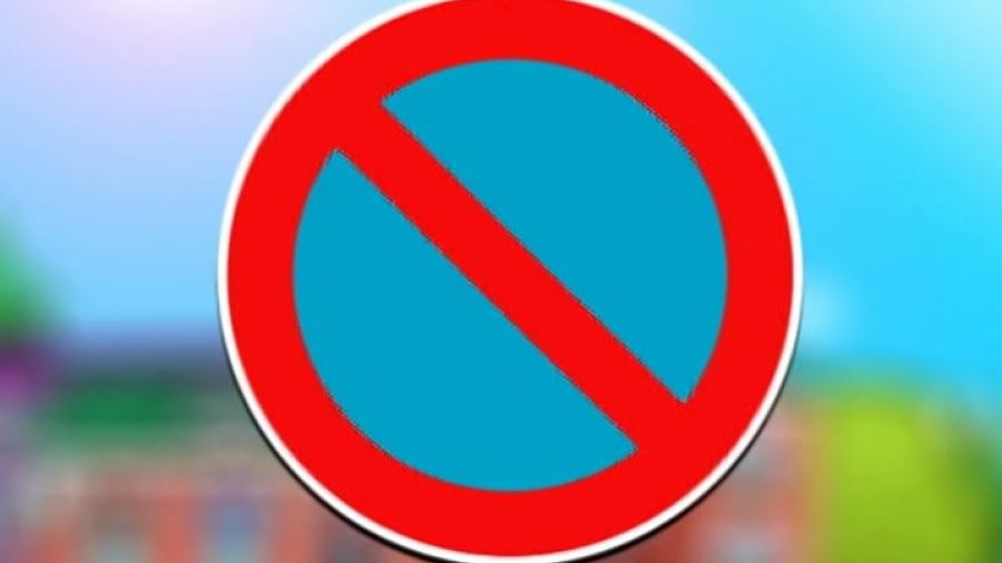 Знак, запрещающий стоянку авто