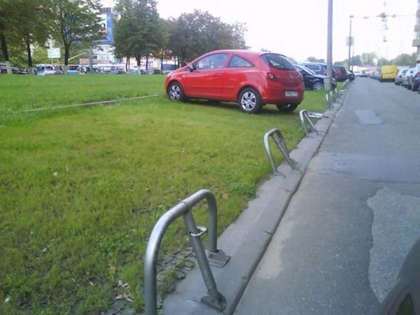 Фото неправильной парковки