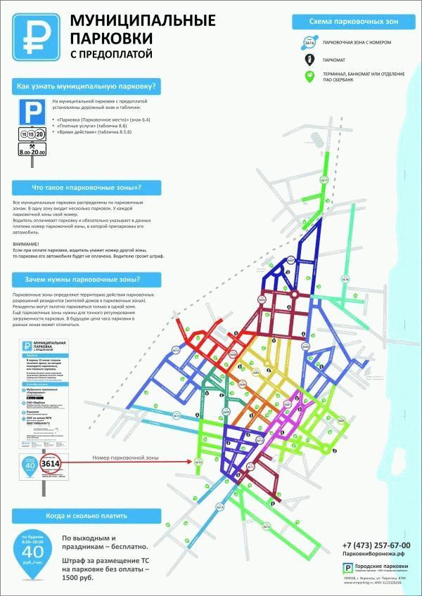 Схема парковочного пространства воронежа