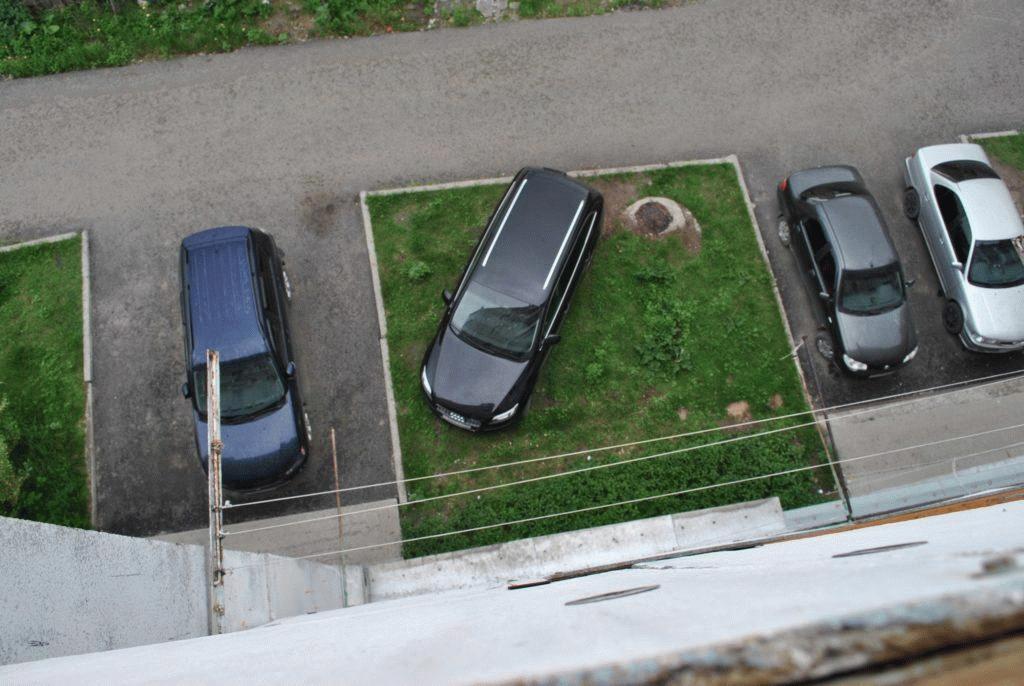 Паркуясь на газоне, автомобилист может получить внушительный штраф, сумма которого будет зависеть от региона