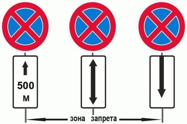 """Примеры знака """"Остановка запрещена"""" со спецтабличками"""