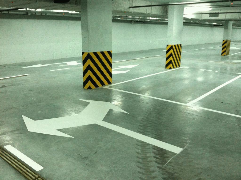 Нанесенная разметка должна быть хорошо видна автомобилистам в любое время суток
