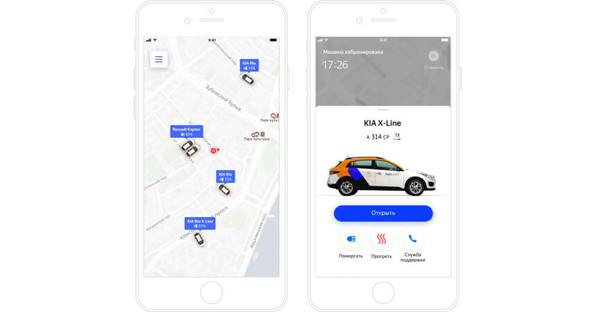 Мобильное приложение Яндекс.Драйв