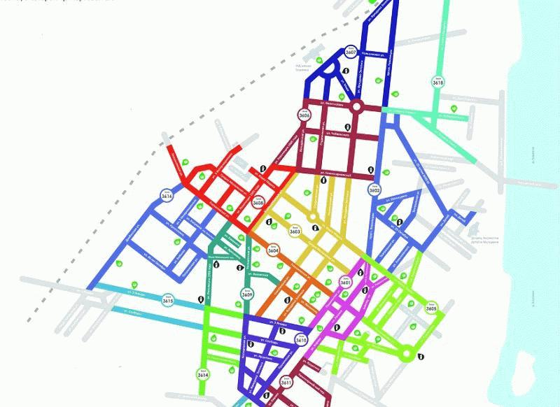 Карта-схема парковочных зон Воронежа