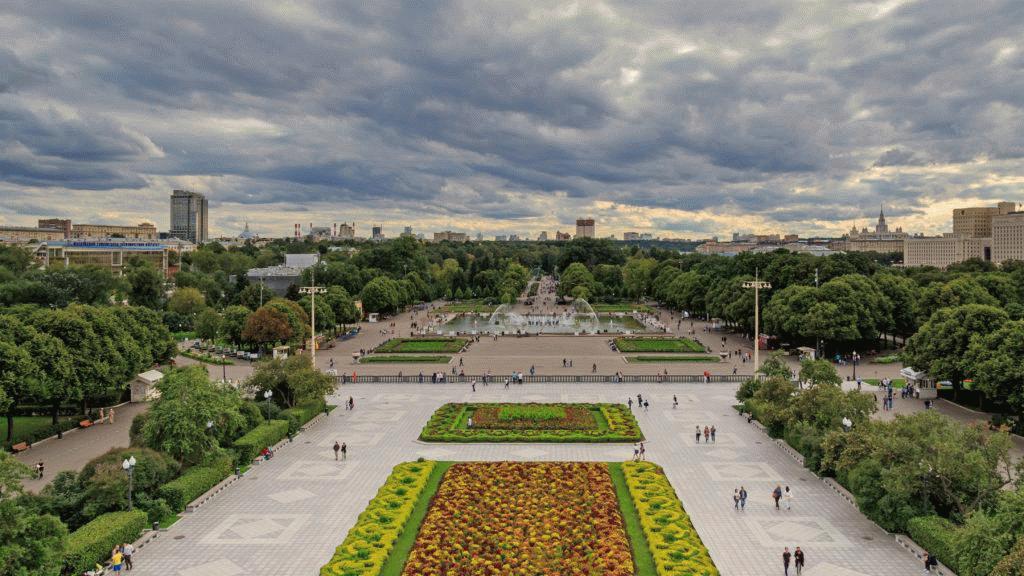 Вид на парк Горького в Москве
