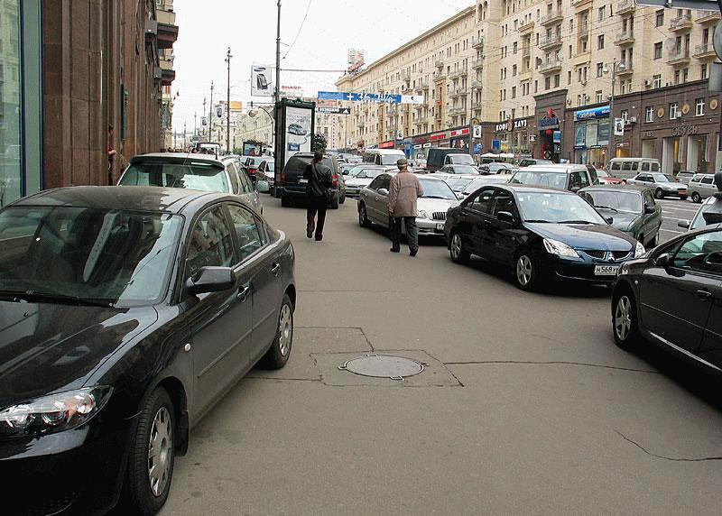 Нарушение в центре Москвы