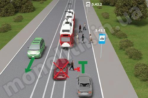 Парковка на остановке общественного транспорта, создающая помехи