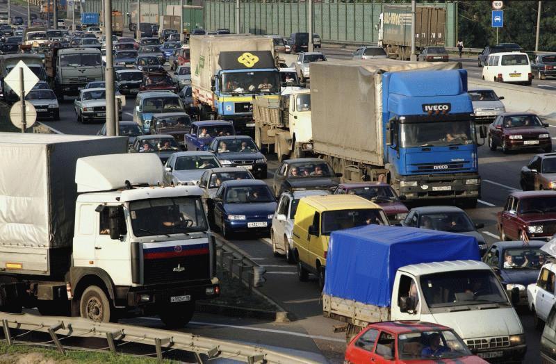Столица перегружена транспортом
