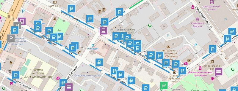 Карта парковок