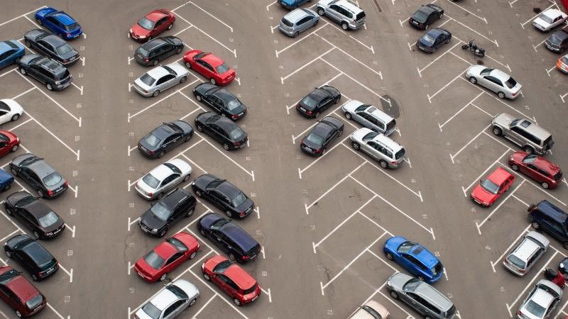 Парковка по диагонали