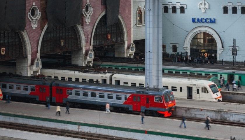 Железнодорожные пути на Казанском вокзале