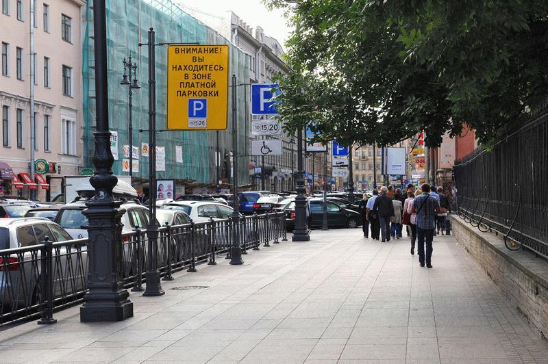 Платная парковка в СПб