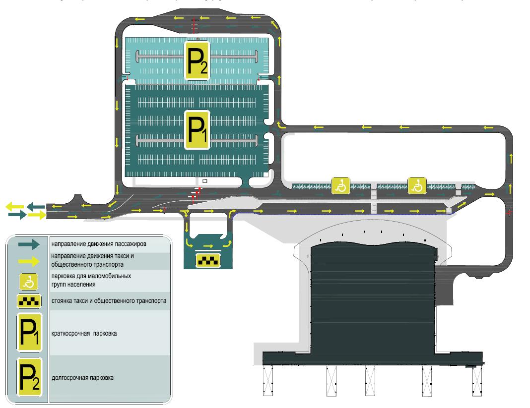Схема проезда и зон на стоянках