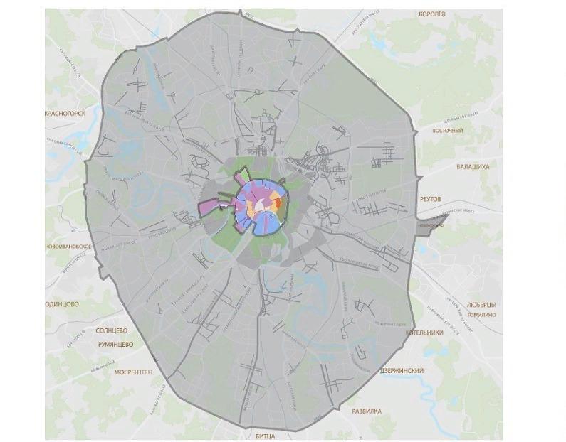 Карта платных стоянок в Москве